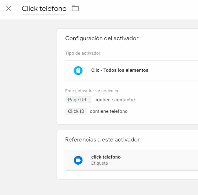 configuracion conversiones clicks