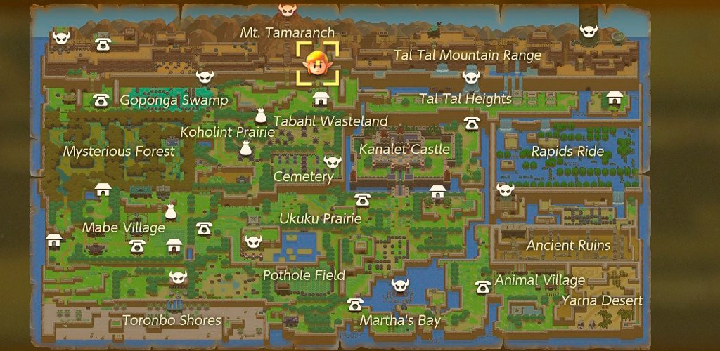 mapa links awaiking