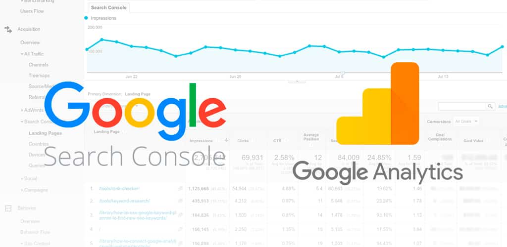 google analytics search console