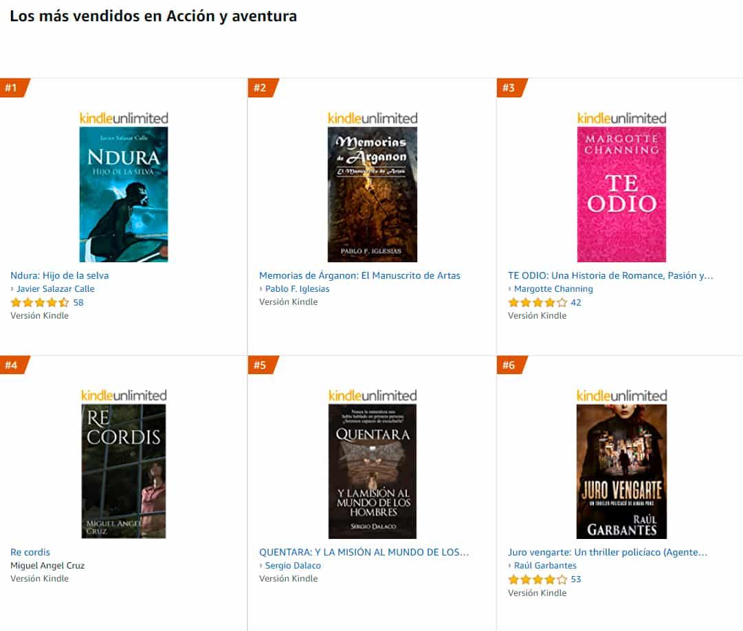 ventas libro fantasia epica 2