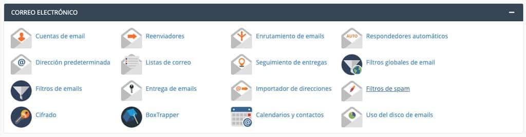 CPanel filtros anti spam