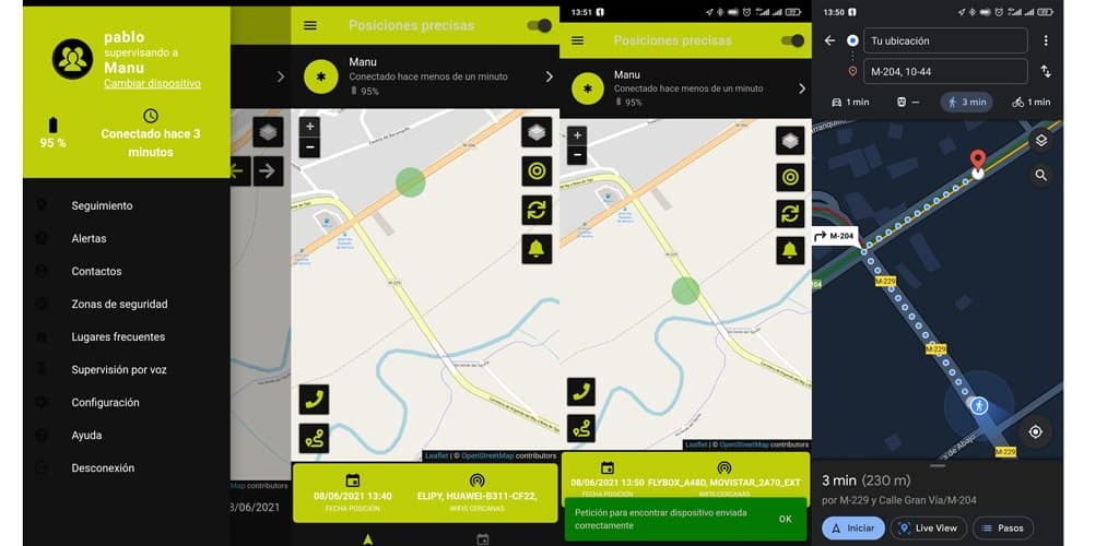 neki uso aplicacion localizar personas
