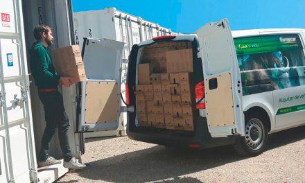 El almacenaje físico de productos de una empresa digital