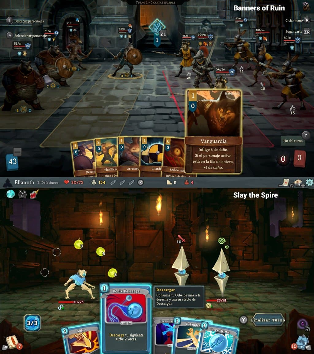 Comparativa Banners of ruin slay the spire