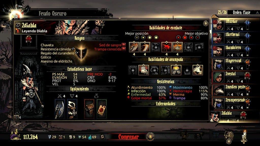 personajes darkest dungeon