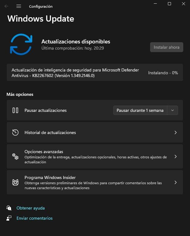 actualizar windows11