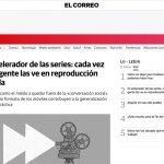 Hablando sobre el impacto social del speedwatching en el periódico El Correo